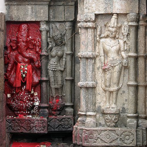 Beautiful Sculptures Adorn the Walls of the Temple